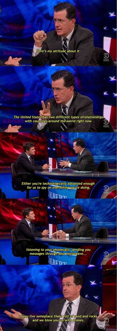 Stephen Colbert Sums Up American Foreign Policy