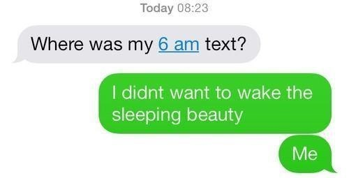 Sleeping Beauty,texting