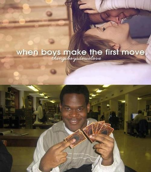 boys funny Yu Gi Oh trap card the first move dating