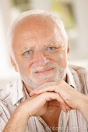 stock photo of Hide the Pain Harold looking at the camera with a pained expression