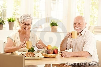 stock photo of Hide the Pain Harold uncomfortably having breakfast with his wife