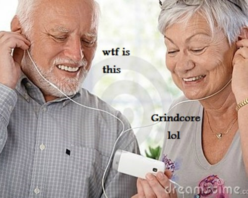 stock photo of Hide the Pain Harold miserably listening to bad music with wife