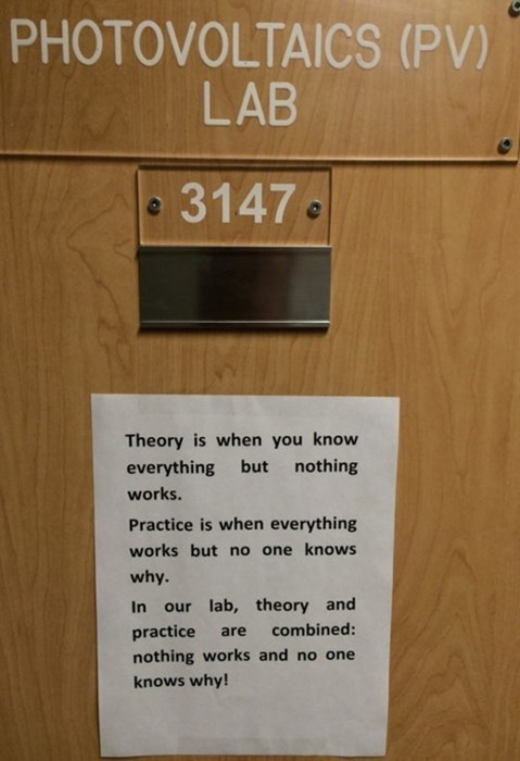 engineering science monday thru friday theory sign g rated - 8334971904
