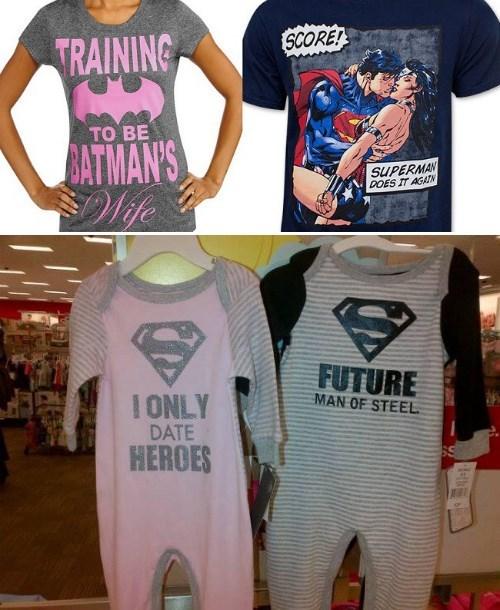 DC sexist tshirts - 8334974464