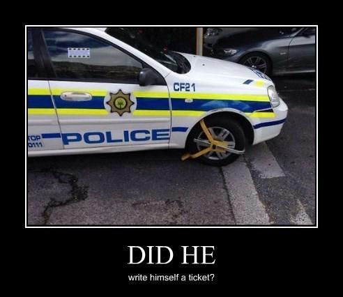 cops parking ticket funny - 8335011584
