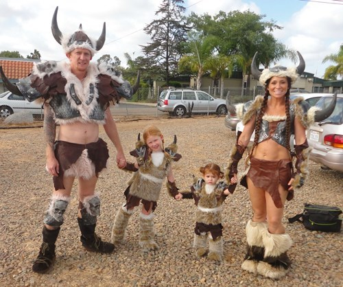 costume,family photo,poorly dressed,viking