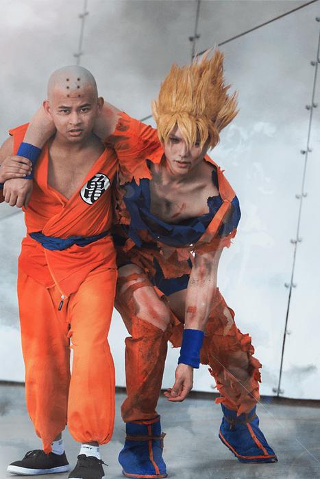 cosplay Dragon Ball Z krillin goku - 8335059200