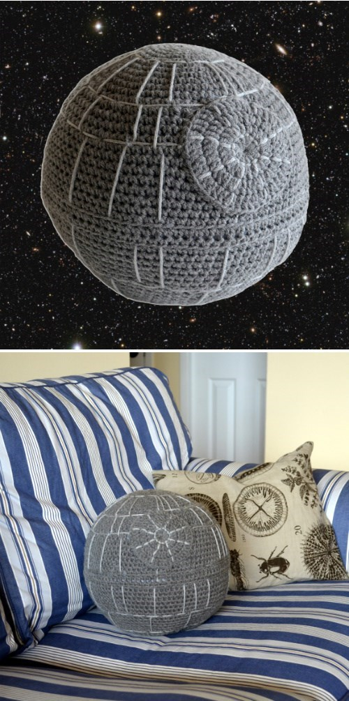 crochet,Death Star,Pillow