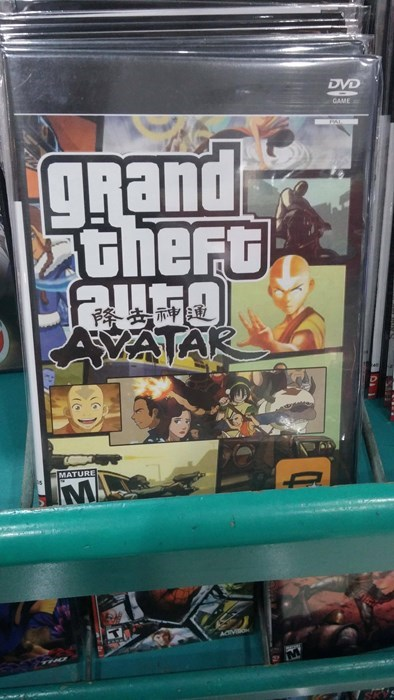Avatar,seems legit,video games,Grand Theft Auto,wtf