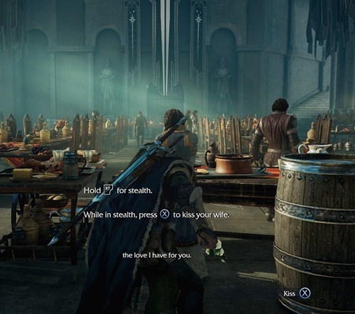 gameplay,stealth kiss,shadow of mordor
