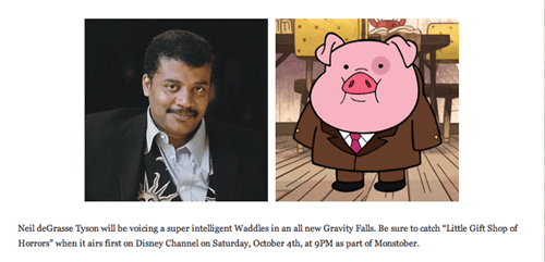 gravity falls cartoons Neil deGrasse Tyson