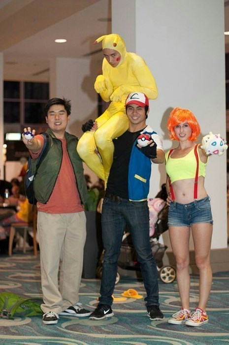ash,cosplay,brock,misty,pikachu