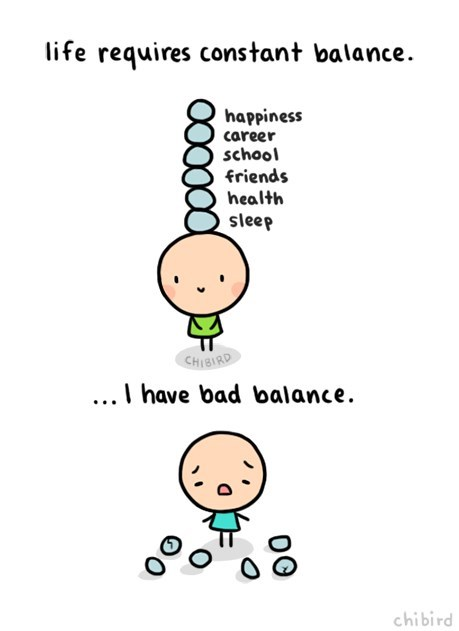 life balance sad but true web comics - 8335225344