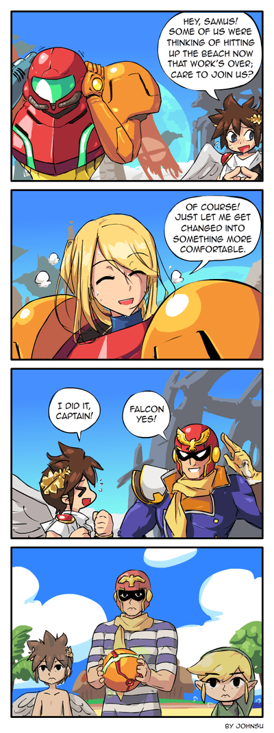 samus beach sweet video games web comics - 8335495936