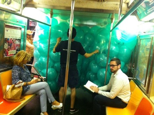 monday thru friday,commute,Balloons,Subway