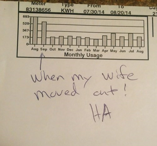 wife,electric bill,funny,dating