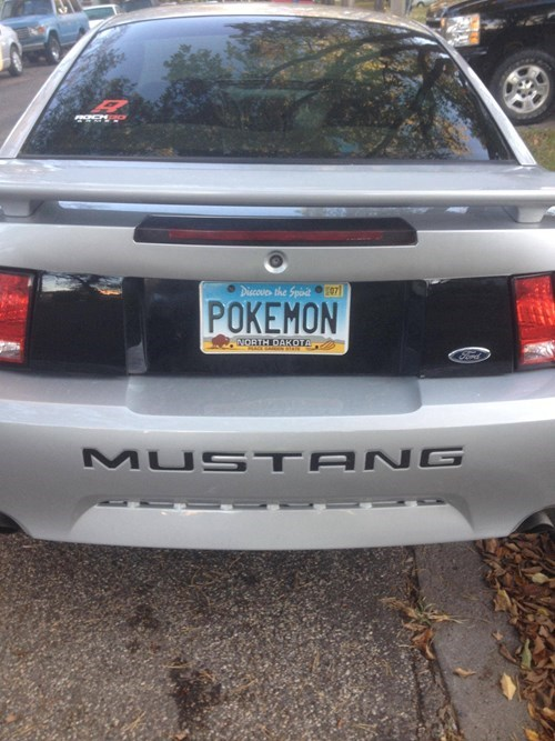 Pokémon license plates cars - 8336226560