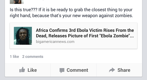 fake ebola hoax zombie failbook g rated - 8336343296