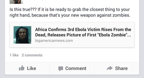 fake ebola hoax zombie failbook g rated - 8336343296