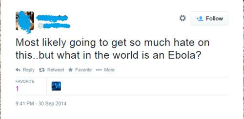 facepalm ebola twitter - 8336344576