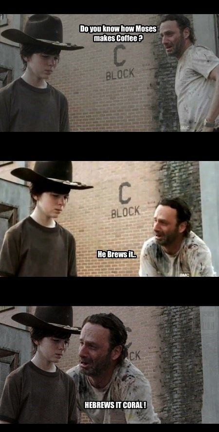 puns coffee brews The Walking Dead