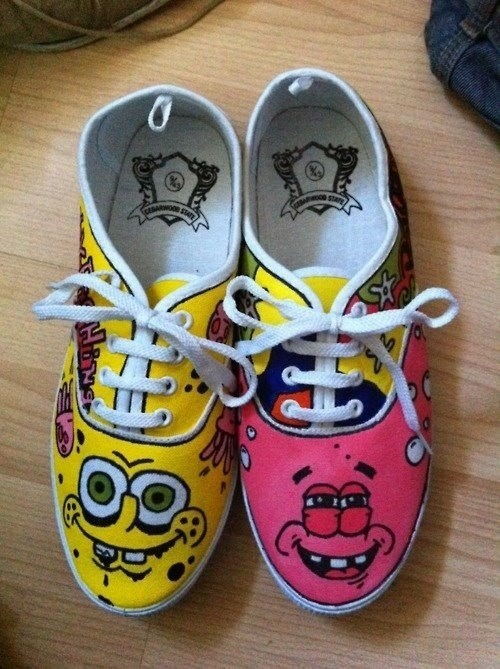 shoes poorly dressed patrick star SpongeBob SquarePants patrick - 8336414464