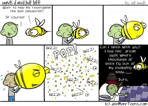 cute bees web comics - 8336586752