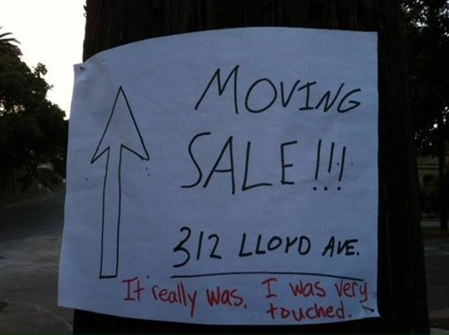 hacked irl,moving sale