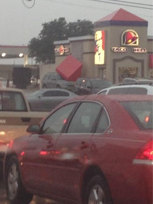 driving fast food kfc taco bell - 8337056256