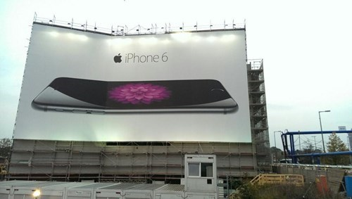 Okay, Who Bent the Giant iPhone 6 Billboard in Berlin?
