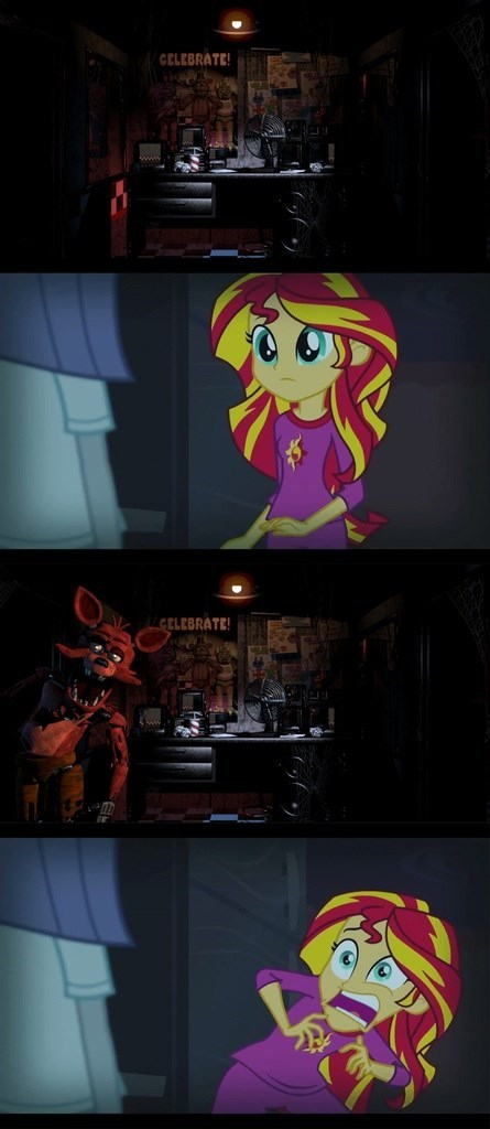 sunset shimmer rainbow rocks five night at freddy's spoopy sunset - 8337124864