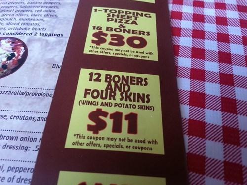 menu restaurant no no tubes - 8337143808