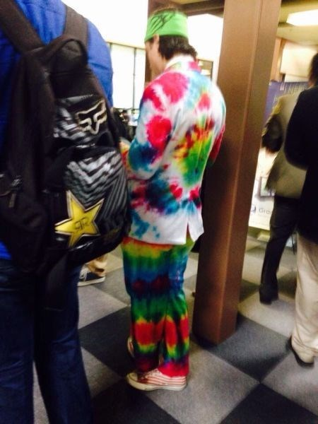 tie dye,poorly dressed,suit