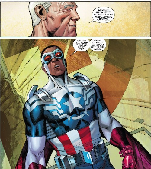 captain america Straight off the Page the falcon - 8337196544