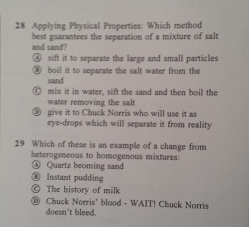 chuck norris funny quiz teachers science - 8337267968