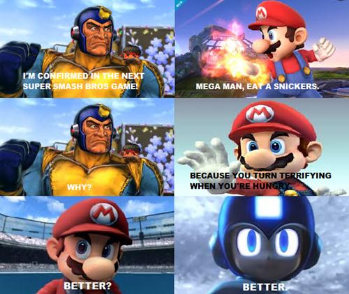 mario,Memes,mega man,snickers