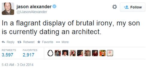 irony jason alexander seinfeld twitter failbook g rated - 8337416960