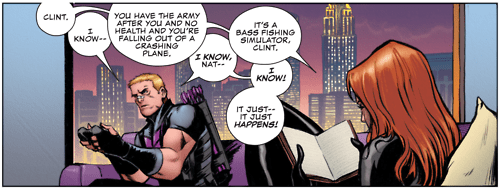 Straight off the Page,Black Widow,hawkeye