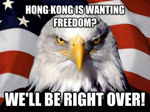 hong kong,murica eagle