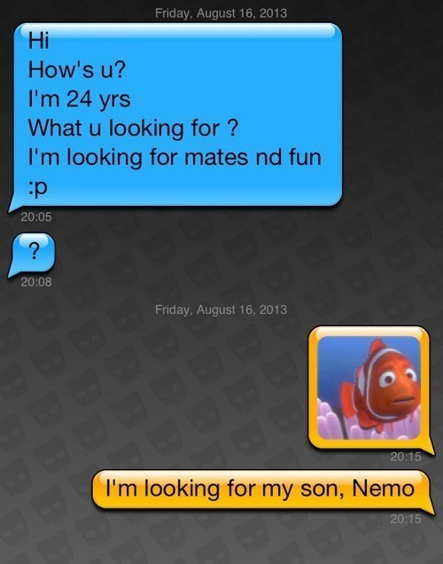 finding nemo,texting