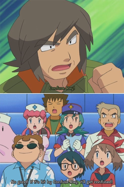 anime,pokemon idiots,confused,confuse ray