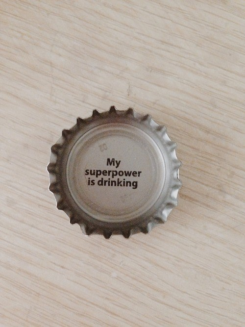 bottle cap drinking funny superheroes - 8339300096