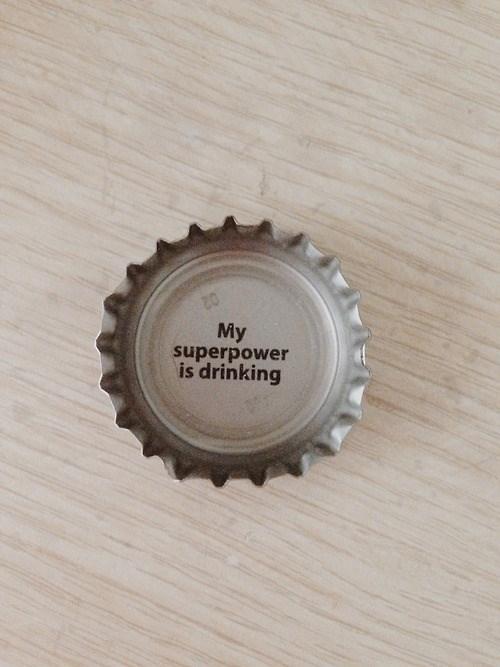 bottle cap drinking funny superheroes