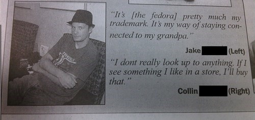 high school,fedora,funny