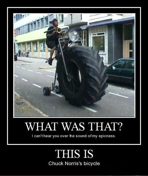 chuck norris bike funny