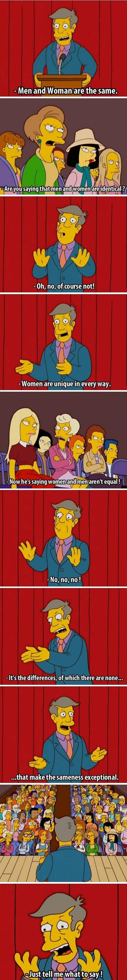 gender issues,feminism,the simpsons,battle of the sexes