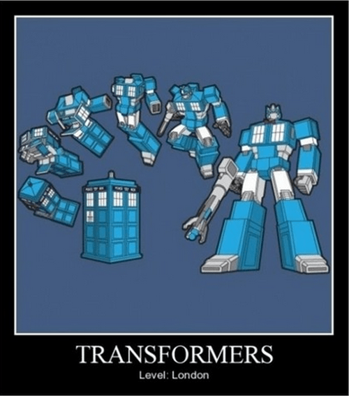 transformers,London,tardis,doctor who,funny