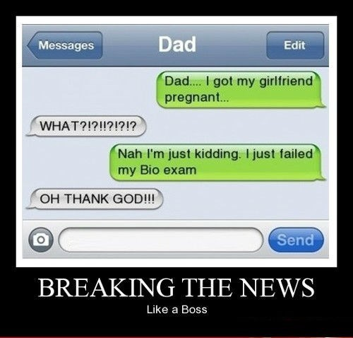 news text dad funny