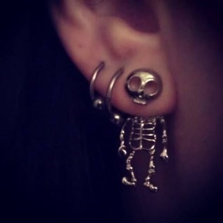 earrings Jewelry poorly dressed skeleton - 8339792896