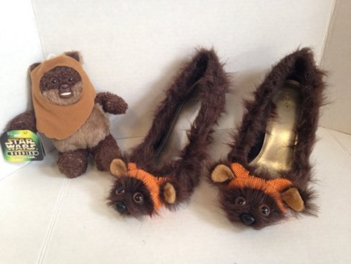 shoes,star wars,poorly dressed,ewok